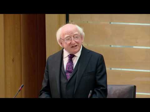 Visit of Michael D. Higgins, President of Ireland - Scottish Parliament: 29th June 2016