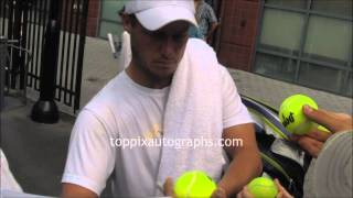 Lleyton Hewitt - Signing Autographs at 2012 U.S.Open in NYC