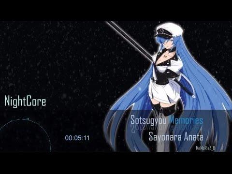 [Nightcore]  Sotsugyou Memories Sayonara Anata