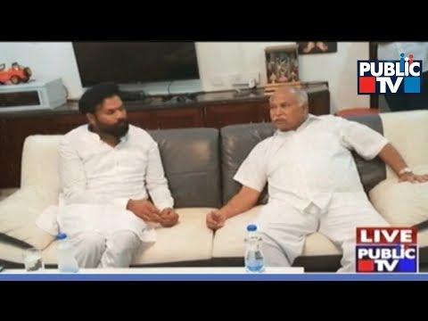 Sriramulu Lobbies For His Political Guru N. Hanumanthappa Son's Ticket In By-Polls