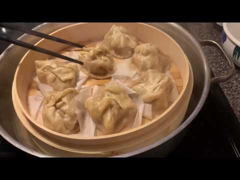 Steamed Dumplings In Bamboo Steamer