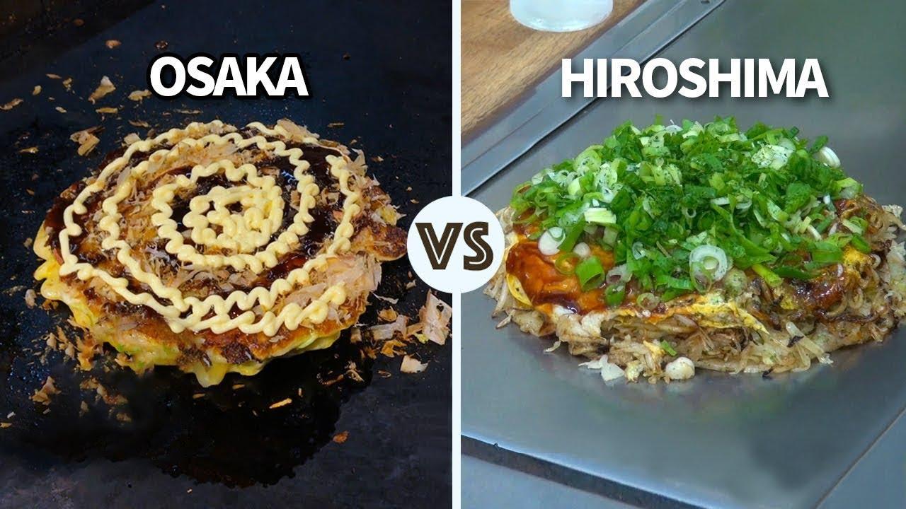 Osaka vs Hiroshima Okonomiyaki   Which one is better? ★ ONLY in JAPAN