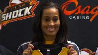 Tulsa Shock Introduce Skylar Diggins!