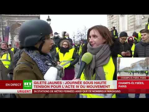 Fouilles, confiscations, encerclement : une Gilet jaune témoigne au micro de RT France