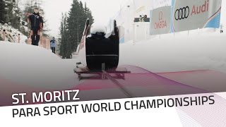 Monobob Launcher officially introduced in St. Moritz | IBSF Para Sport Official