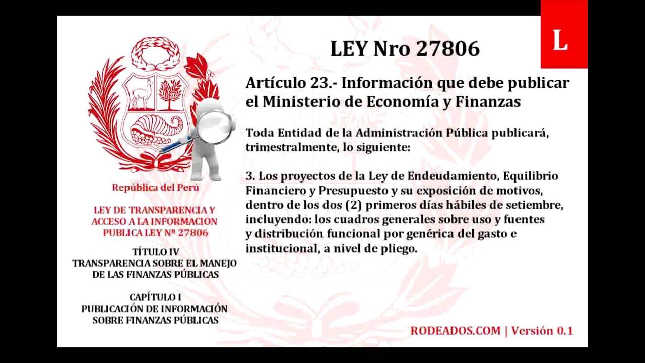 Titulo iv capitulo i ley de transparencia y acceso a for Oficina de transparencia y acceso ala informacion