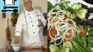 Грузинская закуска. Как правильно нарезать овощи и зелень? Грузинская кухня. Рецепт ТВ