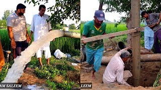 Water Boring Machine Working in Pakistan Village | Tube-well Boring in Pakistan Mozzam Saleem