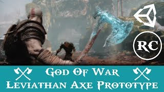 God of war 4 Leviathan Axt Prototyp in Unity 3d
