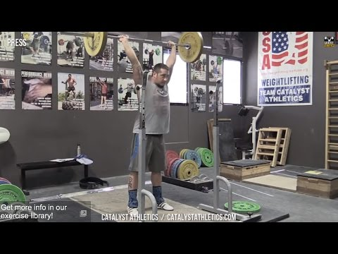 Press - Olympic Weightlifting Exercise Library - Catalyst Athletics