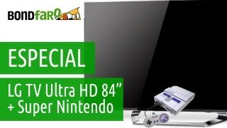 "LG TV 84"" Ultra High Definition 4K + Super Nintendo = Feliz 2013!"