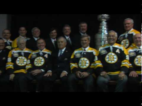 40th Anniversery 1970 Stanley Cup Team Ceremony - Team Photo Behind the scenes