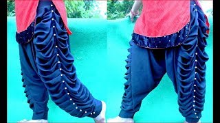 केवल ढाई 2.5 मीटर में self designed lahariya salwar drafting, cutting and stitching
