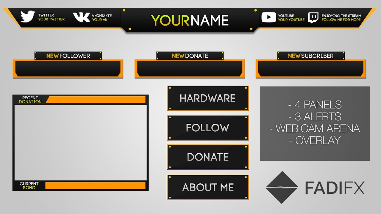 Free twitch design fadifx youtube for Twitch overlay ideas