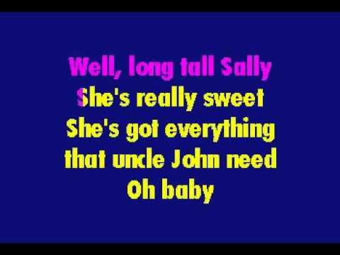 Little Richard - Long Tall Sally (karaoke)