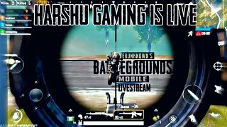 PUBG MOBILE LIVE ||LIVE PUBG MOBILE WITH HARSHU GAMING,FULL RUSH GAME ????PLAY