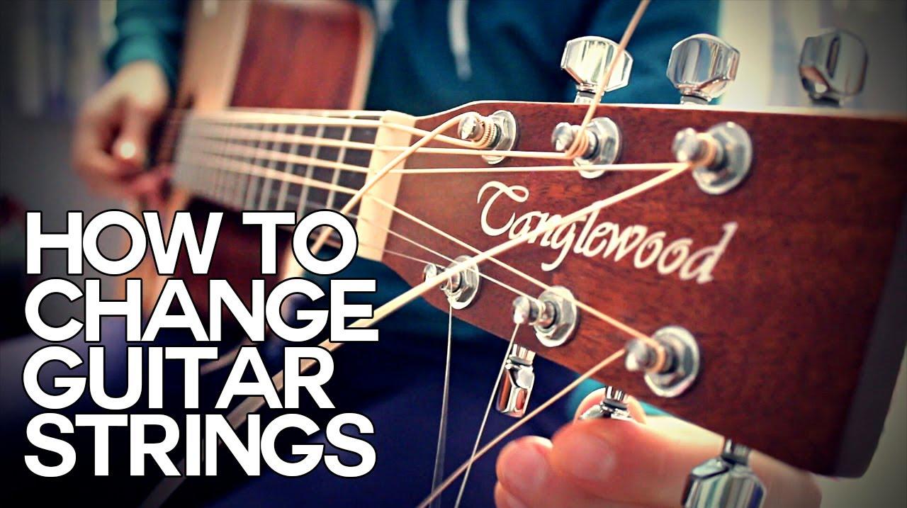 how to change acoustic guitar strings guitar basics youtube. Black Bedroom Furniture Sets. Home Design Ideas