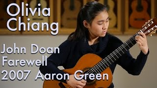 "John Doan's ""Farewell"" played by Olivia Chiang on a 2007 Aaron Green"
