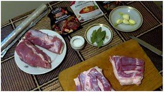 Грудинка свиная запеченная в мультиварке или духовке в фольге Простой Рецепт