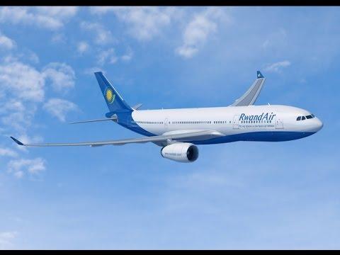 RwandAir AIRBUS 330-200 LANDS IN KIGALI