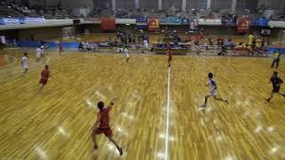 7日 ハンドボール男子 あづま総合体育館 Aコート 高山西×昭和学院 3回戦 1