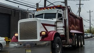 Largecar Peterbilt 389 straight pipes Jake Brake Shifting