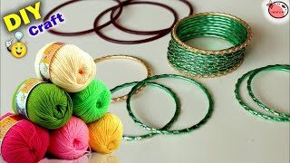 Best Reuse of Old Fashion Bangles | DIY Room Showpiece making | Handmade Things | Waste mathi best