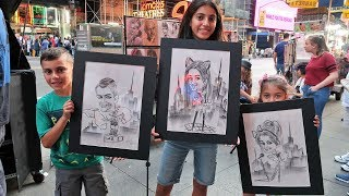 DRAW YOURSELF CHALLENGE in NEW YORK CITY