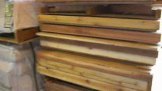 cedar shed kit pallet for shipping for Earlybirdshops.com