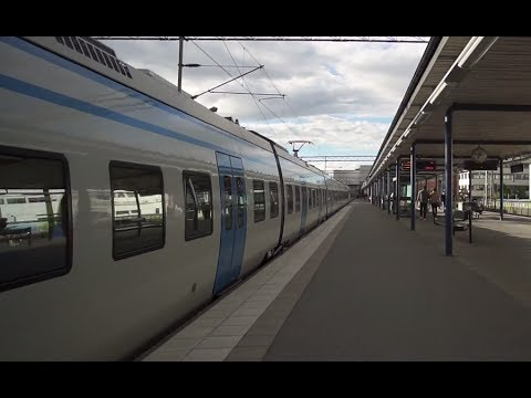 Sweden, train ride from Stockholm Odenplan to Solna