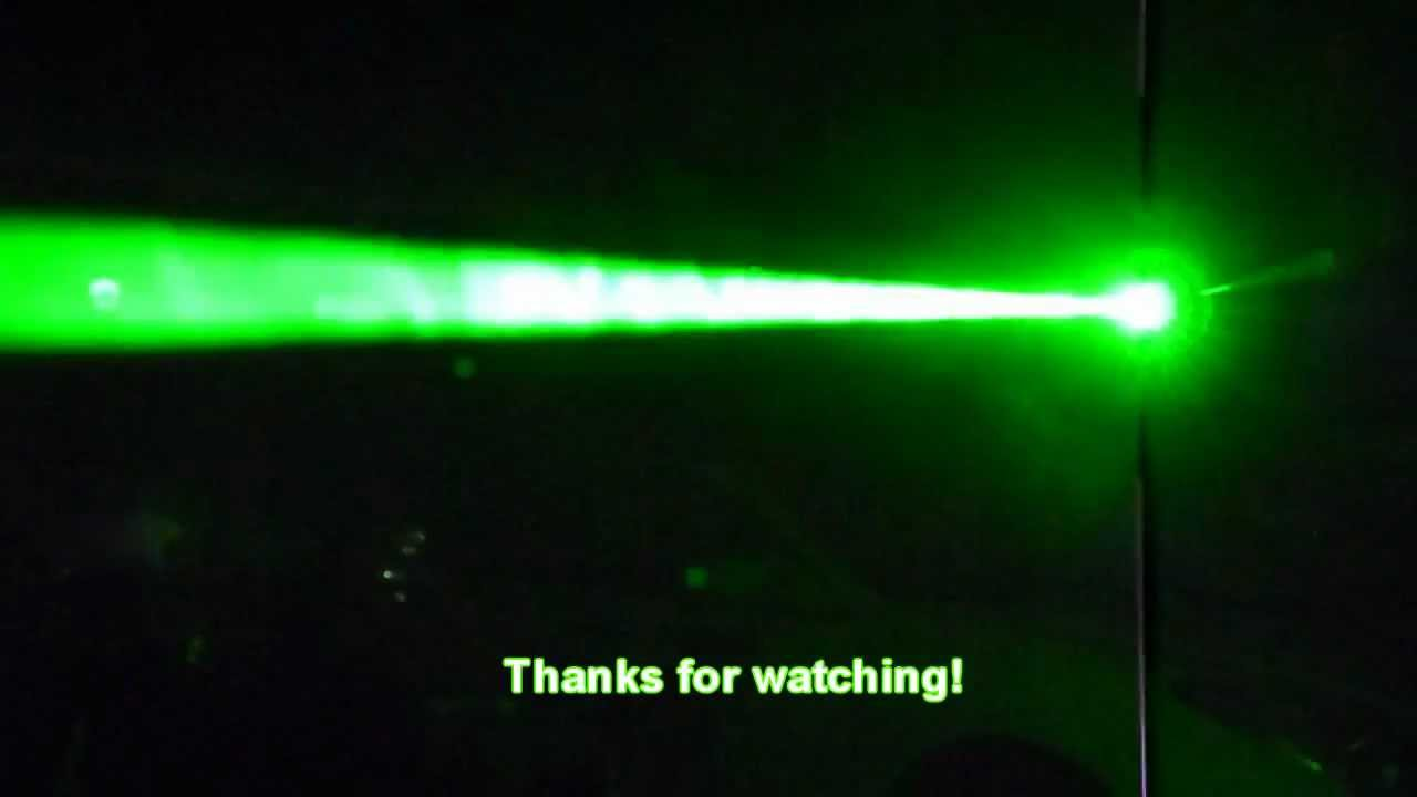 Burning Things With A 50mw Green Laser Youtube