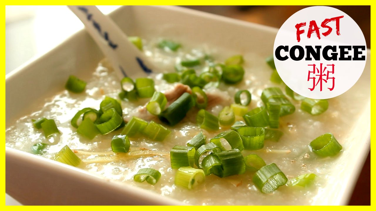 How to Make Jook - Chinese Rice Porridge (粥) Congee Fast ...