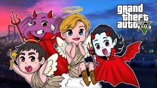 """Good Clowns Vs Evil Babies""   Grand Theft Auto V Funny Moments   w/ Bryce, Swag, Satt"