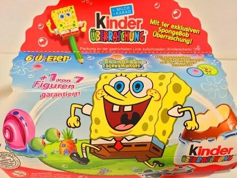 Киндер Сюрприз Губка Боб Квадратные Штаны 2005 Года!!!Kinder Surprise SpongeBob SquarePants