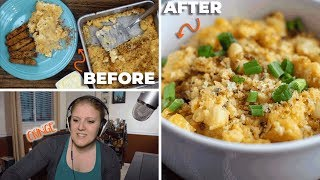 I REACT TO MY FIRST EVER RECIPE VIDEO | Baked Mac & Cheese {Again) | The Starving Chef