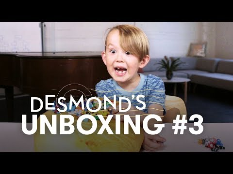 Desmond Unboxes Pokemon and A Potato | Unboxing | HiHo Kids
