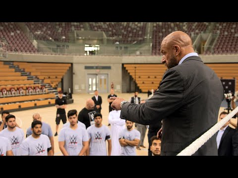 Triple H motivates aspiring Superstars at Saudi Arabia's talent tryout: Exclusive, April 21..