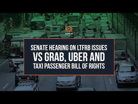 LIVE: Senate Hearing on LTFRB issues vs Grab, Uber and Taxi Passenger Bill of Rights