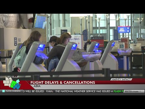 With Houston airports closed, Austin airport is experiencing delays as well