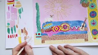 My Mexican Bungalow - Speed Painting Video