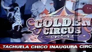 Entrevista para a televisão chilena na temporada de circos no Chile em 2012