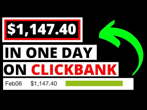 How I Made $1,147.40 In One Day on Clickbank [Exact Method] thumbnail