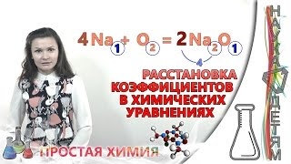 Расстановка коэффициентов в химических уравнениях/The coefficients in chemical equations