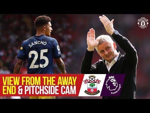 View from Away End & Pitchside Cam |  Southampton 1-1 Manchester United |  Access to all areas