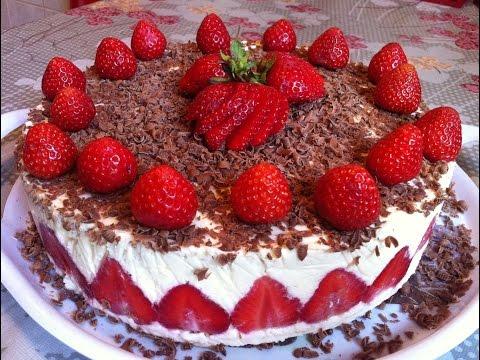 Торт Фрезье/Клубничный Торт/Fraisier Cake/Strawberry Cake/Пошаговый Рецепт(Очень Вкусный и Нежный)