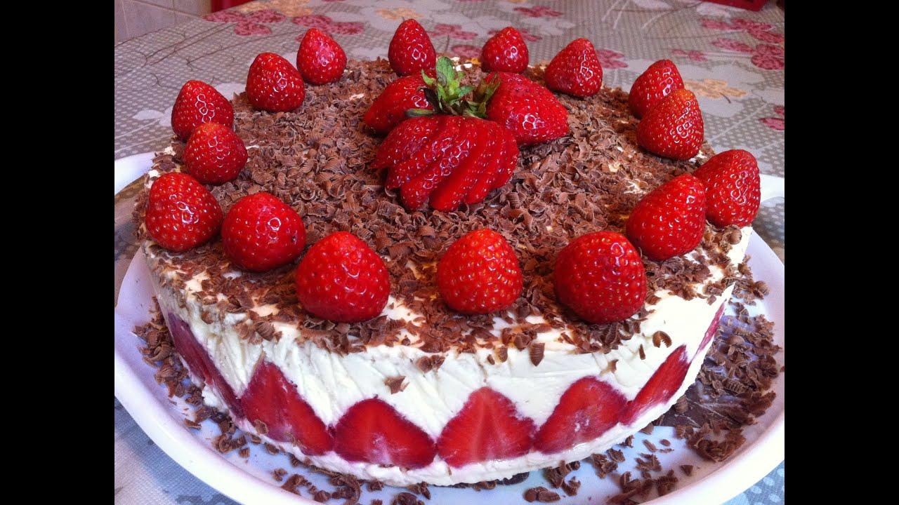 Торт с клубникой фрезье