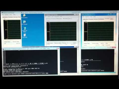 IPERF For Windows - Multicast Bandwidth Test With QoS Between Three Computers