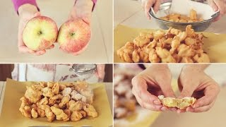 FRITTELLE DI MELE DOLCI Ricetta Facile - Apple fritters Easy Recipe