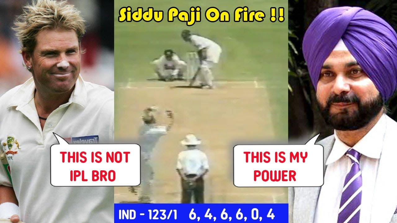 Navjot Sidhu on FIRE 🔥 vs Australian Bowlers | 3 Huge Sixes