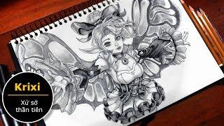 Vẽ Krixi xứ sở thần tiên - liên quân mobile (how to draw krixi)   Au tri art